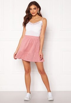 Rut & Circle Ava Suede Skirt Dusty Pink Bubbleroom.fi