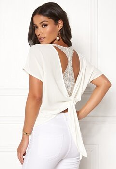 Rut & Circle Back Knot Blouse White Bubbleroom.fi