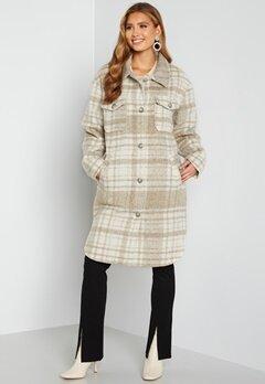 Rut & Circle Becky Check Coat 177 Light Beige/Whit bubbleroom.fi