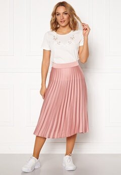 Rut & Circle Bianca Pleated Skirt Dusty Pink Bubbleroom.fi