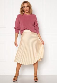 Rut & Circle Bianca Pleated Skirt Light Beige Bubbleroom.fi