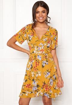 Rut & Circle Eleonor Wrap Dress Yellow Flower Bubbleroom.fi