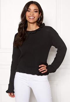 Rut & Circle Emelie Frill Knit Black Bubbleroom.fi