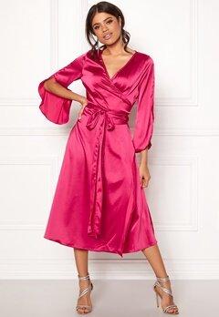 Rut & Circle Fab Wrap Long Dress Hot Pink Bubbleroom.fi