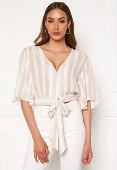 Rut & Circle Fanny Blouse Light Beige Stripe Bubbleroom.fi