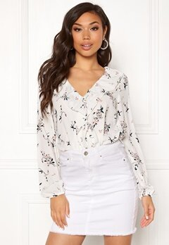 Rut & Circle Flower Wrap Blouse 851 Flower Comb Bubbleroom.fi