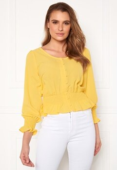 Rut & Circle Freya Blouse Yellow Bubbleroom.fi