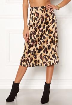 Rut & Circle Frill Midi Skirt Leopard Bubbleroom.fi