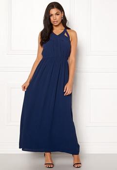 Rut & Circle Hip Long Dress Midnight Blue Bubbleroom.fi