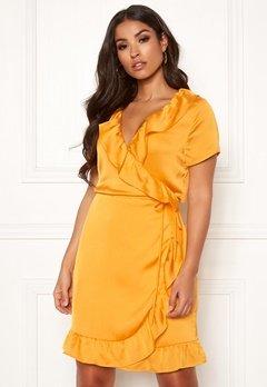 Rut & Circle Ida Wrap Dress Yellow Glow Bubbleroom.fi