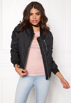 Rut & Circle Kate Front Zip Jacket Musta Bubbleroom.fi