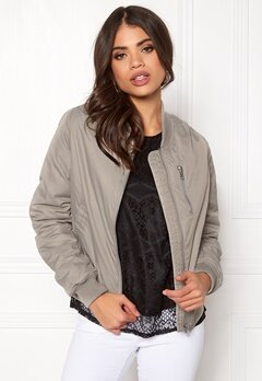 Rut & Circle Kate Front Zip Jacket Lt Grey Bubbleroom.fi