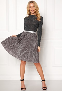 Rut & Circle Nina Pleat Skirt Silver Bubbleroom.fi