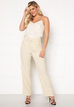 Rut & Circle Nina Straight Pant Light Beige Bubbleroom.fi
