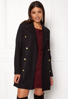 Rut & Circle Nor Button Coat Black Bubbleroom.fi