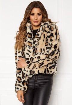 Rut & Circle Nova Faux Fur Jacket Leo Print Bubbleroom.fi