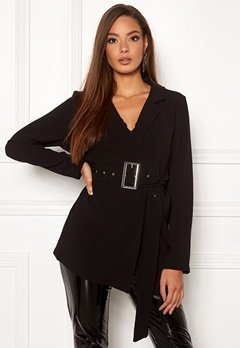Rut & Circle Ofelia Belt Blazer Black Bubbleroom.fi