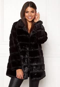 Rut & Circle Panel Faux Fur Jacket Black Bubbleroom.fi