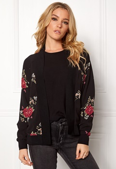 Rut & Circle Rina Flower Jacket Black Bubbleroom.fi