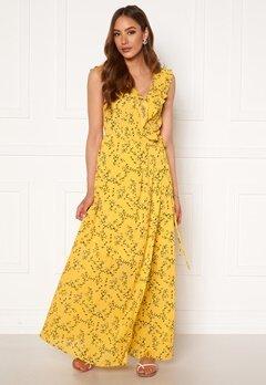 Rut & Circle Serina Maxi Dress Yellow Flower Bubbleroom.fi