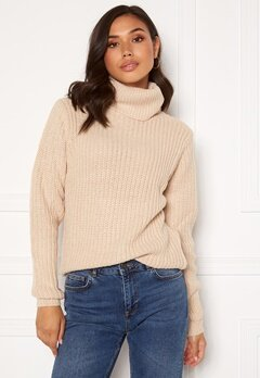 Rut & Circle Tinelle Rollnneck Knit Beige Bubbleroom.fi