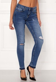 Rut & Circle Victoria Destroyed Jeans Dark Wash Bubbleroom.fi