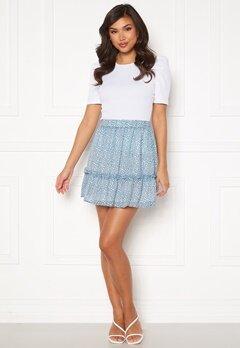 Rut & Circle Vivian Skirt Mid Blue/ White Leo Bubbleroom.fi