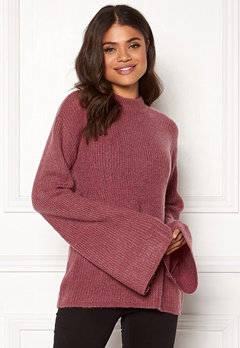 Rut & Circle Wide Sleeve Pullover Old Rose Bubbleroom.fi