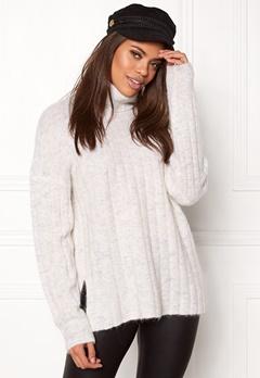 Samsøe & Samsøe Nor t-n Sweater White Mel. Bubbleroom.fi