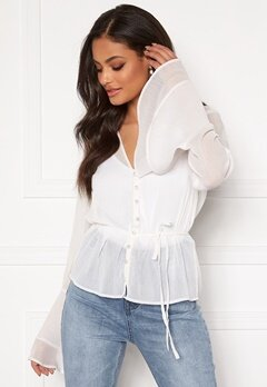 Sandra Willer X Bubbleroom Bell sleeve blouse White Bubbleroom.fi