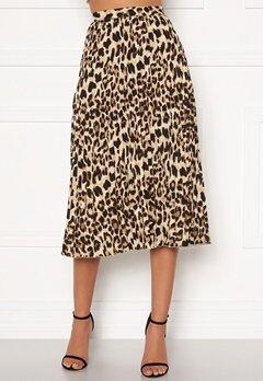Sandra Willer X Bubbleroom Pleated midi skirt Leopard Bubbleroom.fi