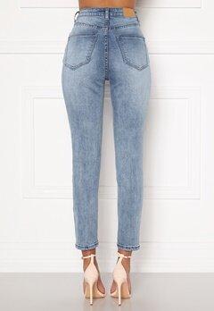 Sandra Willer X Bubbleroom Slim fit mom jeans Light blue Bubbleroom.fi