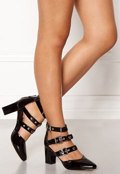 SARGOSSA Adore Heels Black With Gold Bubbleroom.fi