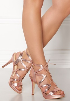 SARGOSSA Chic Nappa Leather Heels Rose Gold Bubbleroom.fi