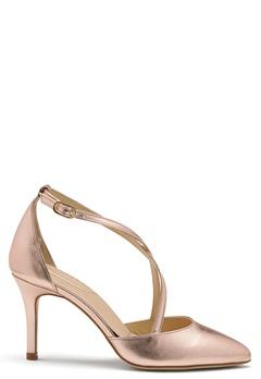 SARGOSSA Glitzy Leather Heels Rose Gold Bubbleroom.fi