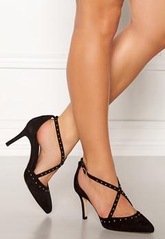 SARGOSSA Glitzy Suede Heels Black Bubbleroom.fi