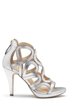 SARGOSSA Redefined Leather Heels Silver Bubbleroom.fi