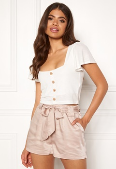 Rut & Circle Satin Belt Shorts 151 Sand Bubbleroom.fi