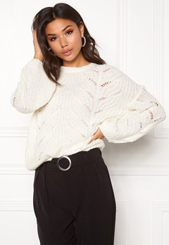 VILA Satira Balloon L/S Top White Alyssum Bubbleroom.fi