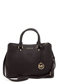 Michael Michael Kors Savannah LG Satchel Bag 001 Black Bubbleroom.fi