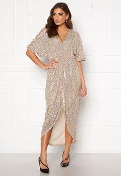 VILA Savias 2/4 Midi Dress Silver Peony Bubbleroom.fi