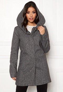 ONLY Sedona Light Coat Dark Grey Melange Bubbleroom.fi
