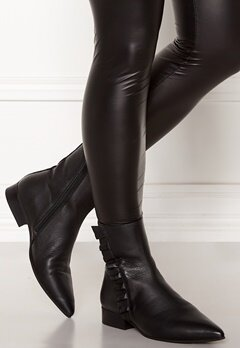 SELECTED FEMME Alexia Leather Frill Boot Black Bubbleroom.fi