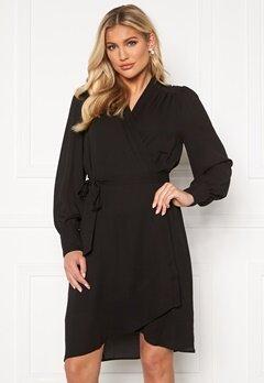 SELECTED FEMME Alva LS Wrap dress Black Bubbleroom.fi