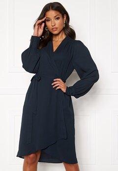 SELECTED FEMME Alva LS Wrap dress Dark Sapphire Bubbleroom.fi