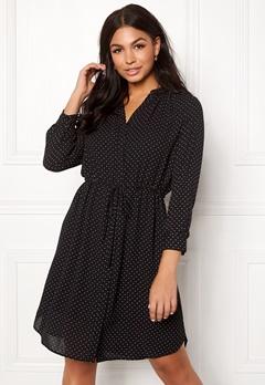 SELECTED FEMME Damina 7/8 Dot Dress Black/Creme Dots Bubbleroom.fi