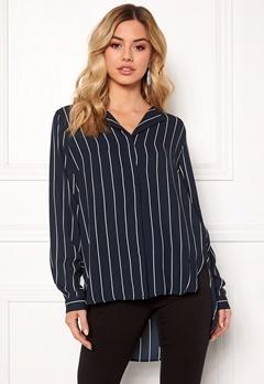 SELECTED FEMME Dynella stripe L/S Shirt Creme Bubbleroom.fi