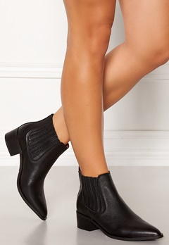 SELECTED FEMME Elena New Leather Boot Black Bubbleroom.fi
