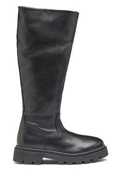 SELECTED FEMME Femma Leather Boot Black bubbleroom.fi