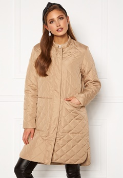 SELECTED FEMME Fillipa Quilted Coat Cornstalk Bubbleroom.fi